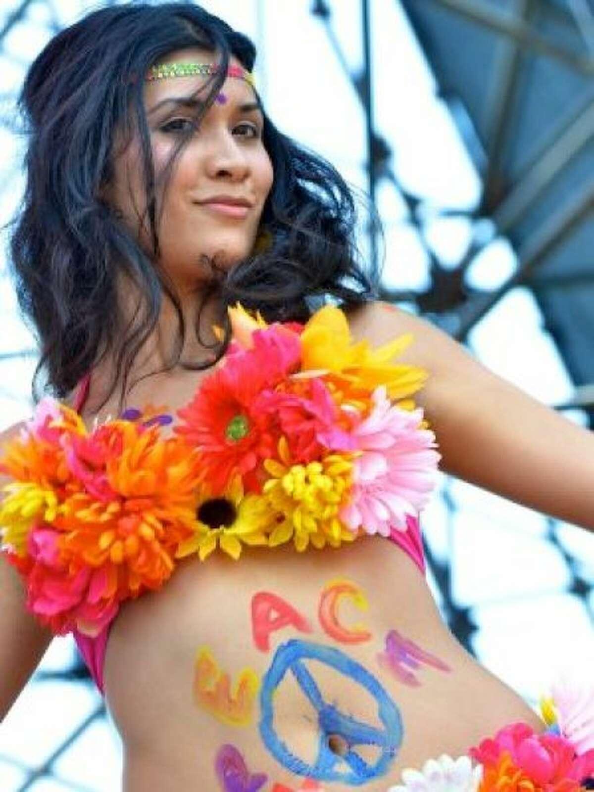 Flower bikini tops are always in season.