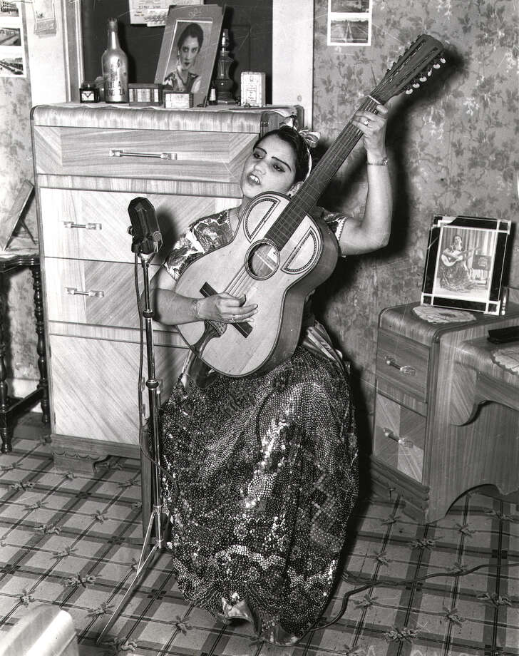 Undated photo of Lydia Mendoza learned young to sing and play the 12-string guitar. She later became known as 'The Lark of the Border.' Photo: UTSA Special Collections