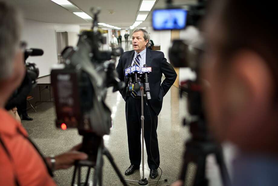 Senator Mark DeSaulnier (D-Concord) speaks to reporters before a hearing of the Senate Transportation and Housing Committee to discuss issues with the Bay Bridge at the State Capitol May 14, 2013 in Sacramento, Calif. Photo: Max Whittaker/Prime, Special To The Chronicle