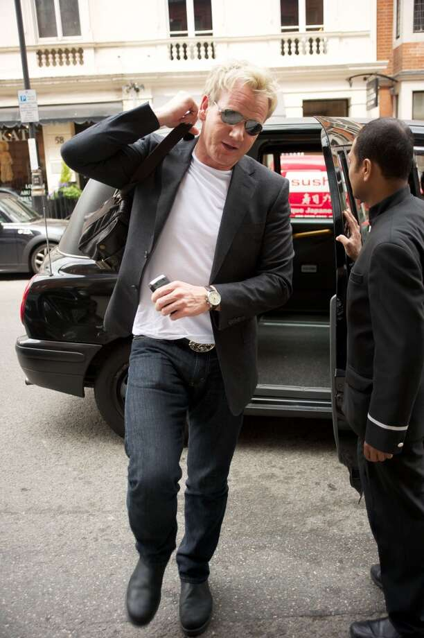 """Gordon Ramsay sighted arriving at Claridge's hotel in London on June 25, 2010. Ramsay will visit The Curtis House in Woodbury from May 11-14 to film for the latest season of """"Hotel Hell."""""""