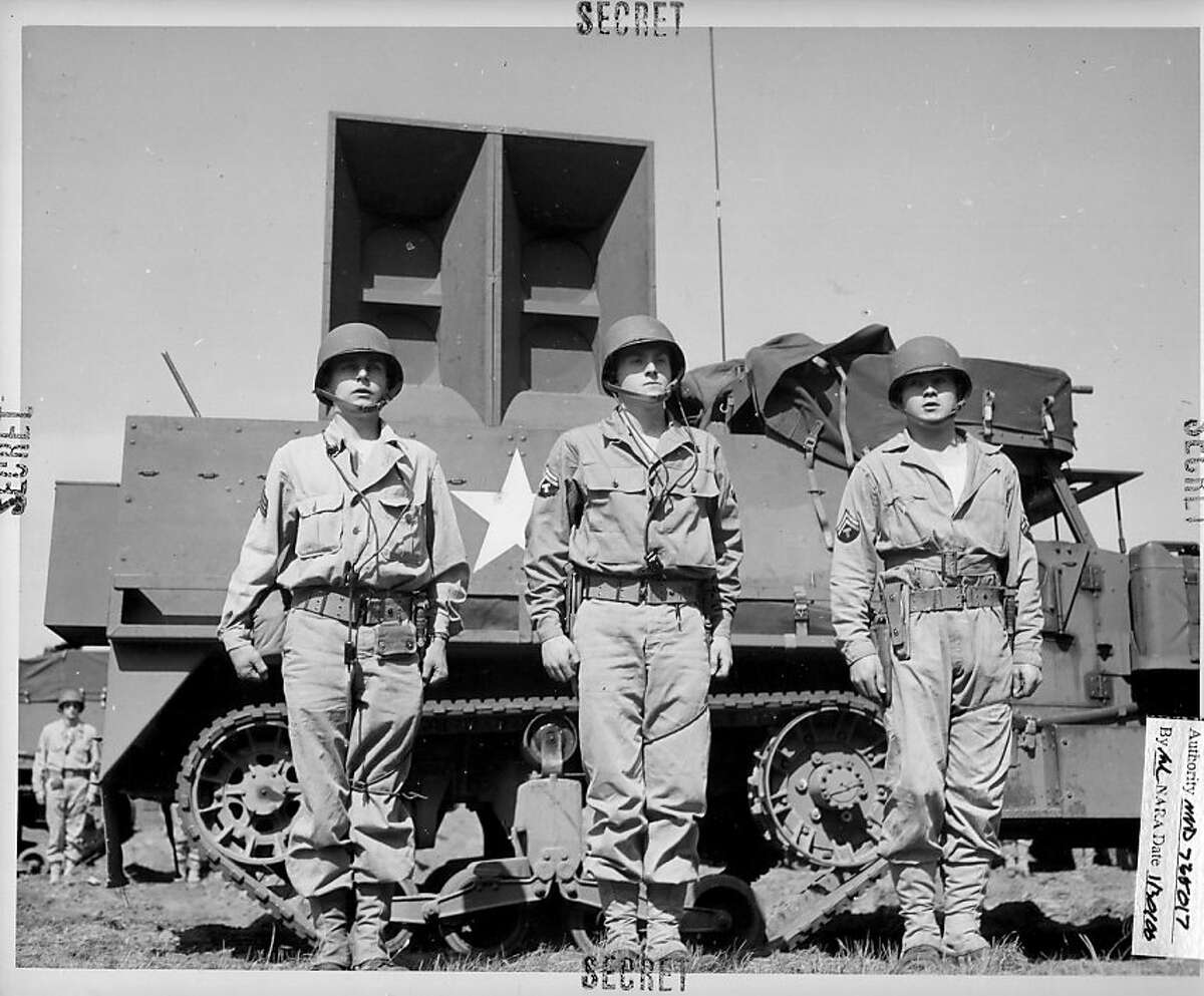 A half-track outfitted with playback equipment and a 500-pound speaker with a range of 15 miles, used by the Ghost Army for sonic deception.