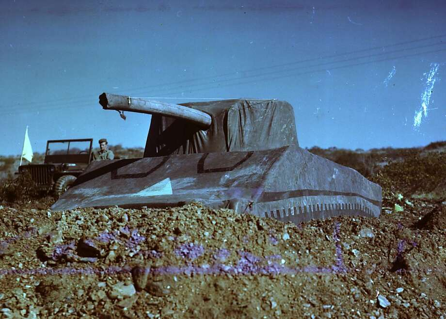 An inflatable M4 Sherman tank used by the Ghost Army. Weighing 90 pounds each, hundreds of these were deployed in their missions designed to deceive the German army about Allied troop movements. Photo: Courtesy Of National Archives, PBS