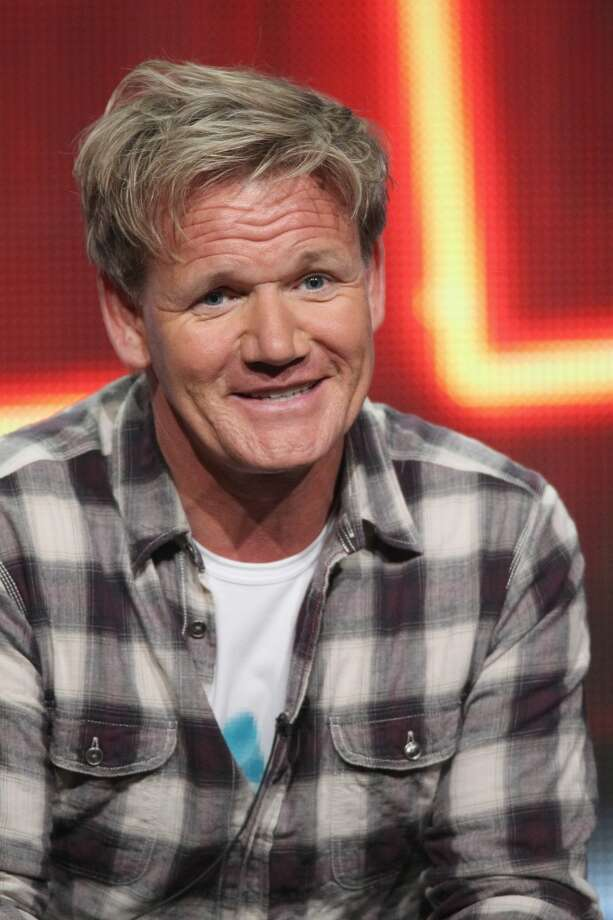 "Gordon Ramsay speaks at the 'Hotel Hell' panel during day 3 of the FOX portion of the 2012 Summer TCA Tour held at the Beverly Hilton Hotel in Los Angeles on July 23, 2012. Ramsay will visit The Curtis House in Woodbury from May 11-14 to film for the latest season of ""Hotel Hell."""