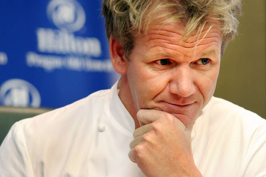 "Gordon Ramsay attends a press conference at the opening of his new Maze Prague Restaurant at Hilton Prague Old Town hotel, on Jan. 22, 2008. Ramsay will visit The Curtis House in Woodbury from May 11-14 to film for the latest season of ""Hotel Hell."""