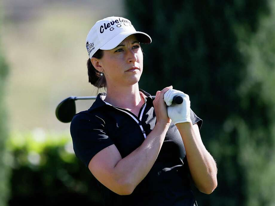 KAPOLEI, HI - APRIL 17:  Paige Mackenzie tees off the 15th hole during the first round of the LPGA LOTTE Championship Presented by J Golf at the Ko Olina Golf Club on April 17, 2013 in Kapolei, Hawaii.  (Photo by Kevin C. Cox/Getty Images) Photo: Kevin C. Cox, Staff / 2013 Getty Images