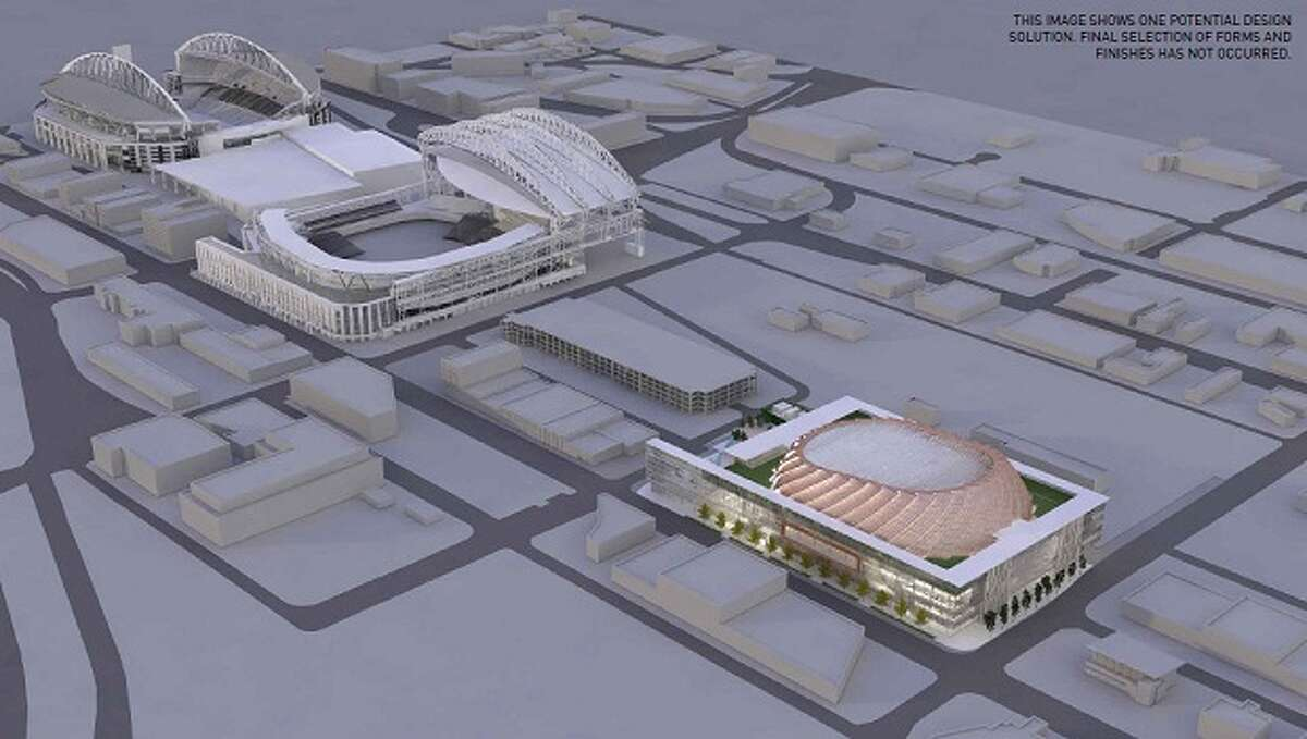 Seattle's arena plan Seattle approved a nonbinding arena-financing plan in October after months of negotiation and examination. The project calls for a $490 million arena partially funded by up to $200 million in public money from selling bonds backed by revenue from existing taxes on the arena itself. Chris Hansen's group plans to pay the rest, plus cost overruns, plus renovations to KeyArena as an interim NBA home while the new arena is built.