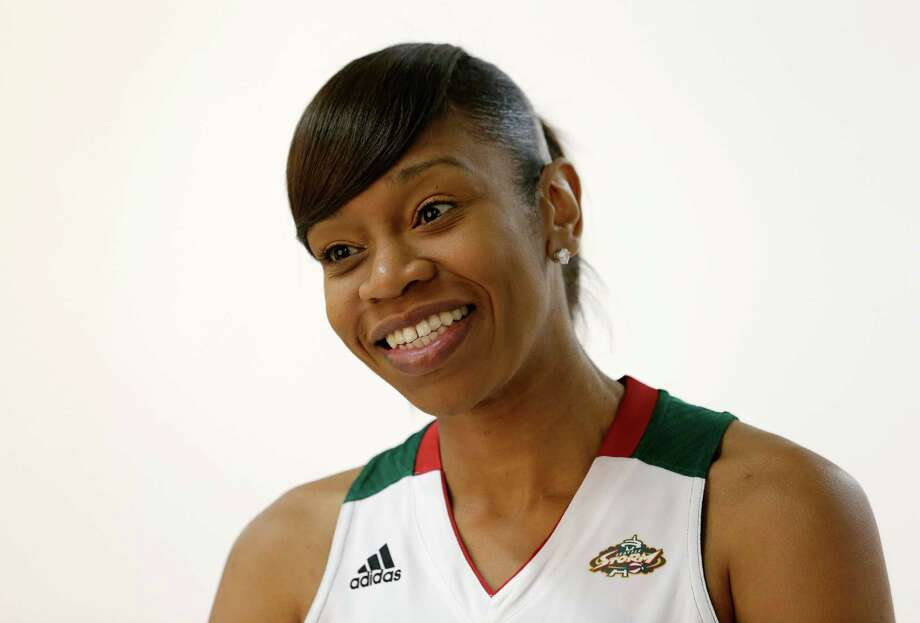 Seattle Storm's Tina Thompson poses for a portrait Tuesday, May 14, 2013 during the team's media day in Seattle.  The Storm opens their regular season Sunday, May 26, at Los Angeles. Photo: Elaine Thompson, AP / AP