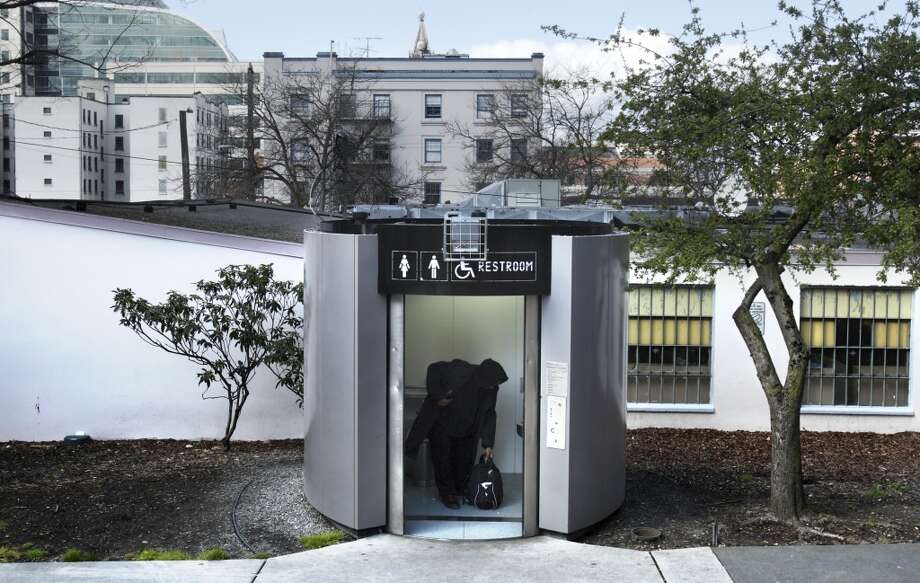 Seattle's public toilets were roomy and located in Pioneer Square, International District, Victor Steinbrueck Park, Capitol Hill and on the waterfront. Photo: ANDY ROGERS, SEATTLE POST-INTELLIGENCER
