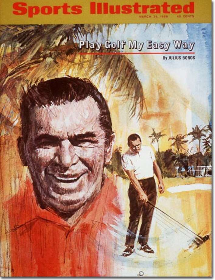 At 48, Boros was a few months away from becoming the oldest golfer to win a modern major at the 1968 PGA Championship -- denying Arnold Palmer once again -- when he grabbed his second cover. The March 25, 1968 issue highlighted John Underwood's 'everyman' profile of the laid-back old pro. Photo: Francis Golden - Artwork