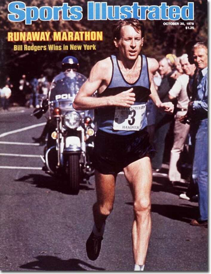 Hartford's Bill Rodgers won his first SI cover on Oct. 30, 1978 after winning the New York Marathon for a third-straight year. Photo: Heinz Kluetmeier