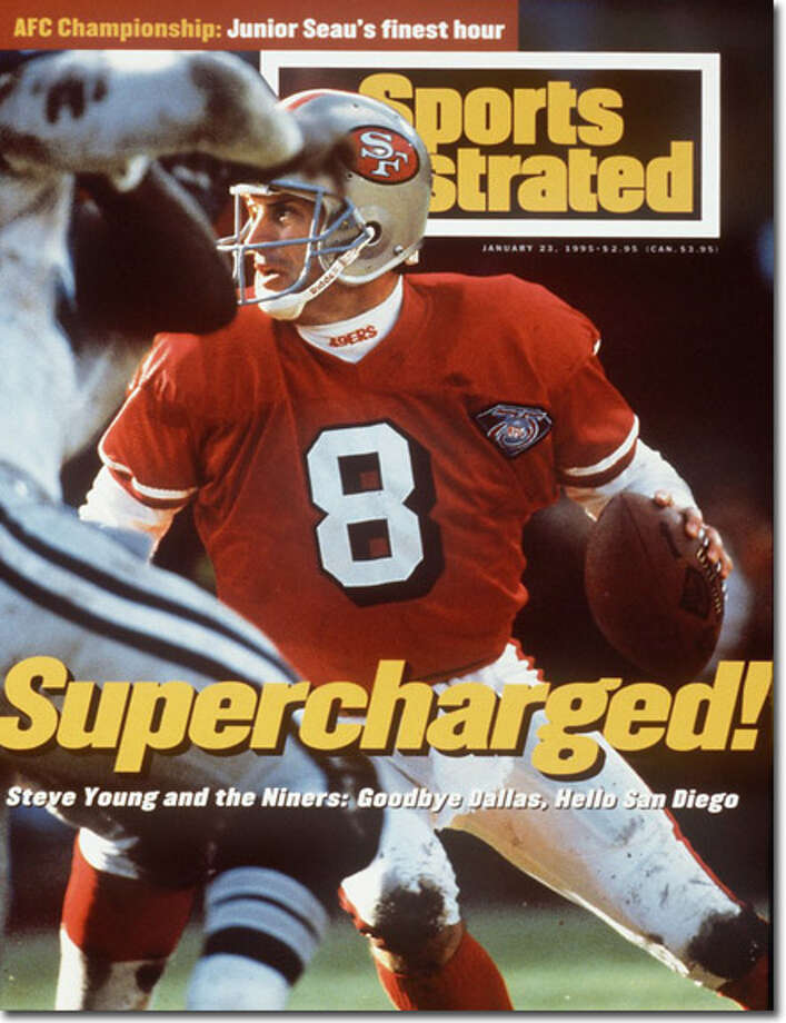 Finally! (Part 1): Young became the first 49er starting QB not named 'Montana' to reach the Super Bowl when he led his team to a 38-28 victory over Cowboys, leading to this cover on Jan 23, 2005.