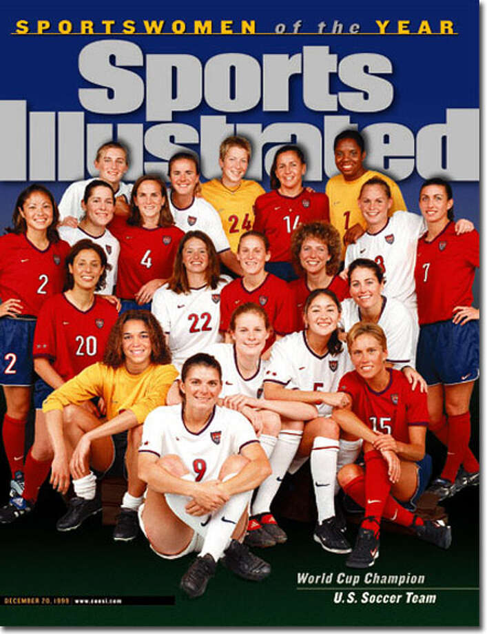 Wilton's golden girl Kristine Lilly (No. 4) and her U.S. Women's National soccer teammates were named Sportswomen of the Year after winning the World Cup in 1999.