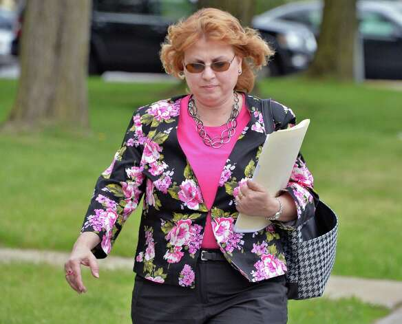 Gloversville City Clerk Susan Semione outside Fulton County Court House in Johnstown, NY Tuesday May 14, 2013.  (John Carl D'Annibale / Times Union) Photo: John Carl D'Annibale / 00022394A