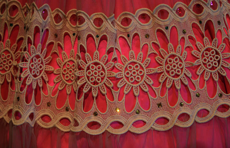 A detail of a dress worn by Mexican singer Lydia Mendoza during one of her performances, at Museo Alameda back in 2007.  Photo: Bob Owen, SAN ANTONIO EXPRESS-NEWS / SAN ANTONIO EXPRESS-NEWS