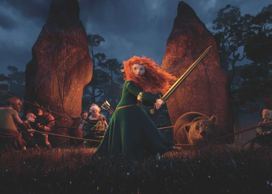 Princess Merida is shown in her preferred dress in this image from 'Brave.'