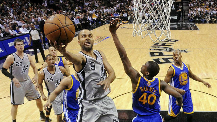 Tony Parker came through again during Tuesday's Game 5 at the AT&T Center. Parker had 25 points and 10 assists to help the Spurs regain control of their Western Conference semifinal against the Warriors.  Edward A. Ornelas / San Antonio Express-News