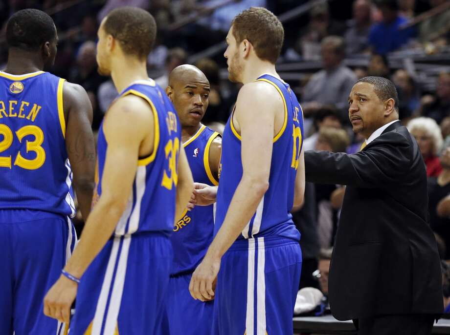 Warriors coach Mark Jackson talks with the team during second half action of Game 5 in the NBA Western Conference semifinals against the San Antonio Spurs Tuesday May 14, 2013 at the AT&T Center. The Spurs won 109-91. Photo: Edward A. Ornelas, San Antonio Express-News