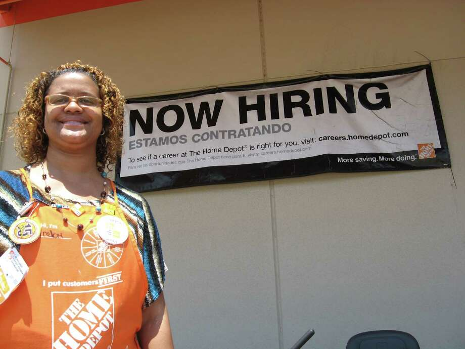 Arelon Trahan, human resources supervisor at Home Depot, 3910 Eastex Freeway, said the Beaumont location is in the middle of hiring 80 seasonal employees with about 20 positions still open. The Orange location needs about the same number. With school about to let out for the summer, job seekers will be looking for work. Prospects this year are favorable, said Robert Foster, labor market analyst for Workforce Solutions Southeast Texas. Dan Wallach/The Enterprise Photo: Dan Wallach