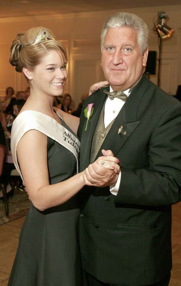 Albany, NY - May 11, 2008 - (Photo by Joe Putrock/Special to the Times Union) - Mayor Jerry Jennings(right) dances with newly crowned 2008 Tulip Queen, Sarah Volk(left), at the 60th Annual Royal Tulip Ball to benefit The Northeastern Association of the Blind at Albany Photo: Joe Putrock, Joe Putrock/Special To The Times / Albany Times Union
