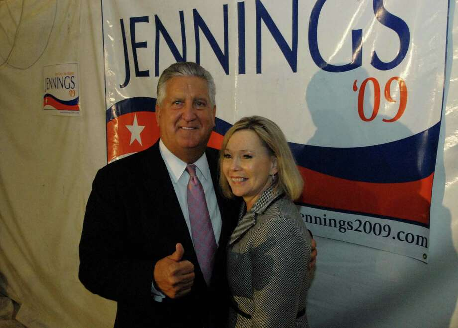 Albany Mayor Jerry Jennings with wife Mary Ann after winning the democratic Primary for mayor at Martel's Restaurant in Albany, New York 9/15/2009. (Michael P. Farrell / Times Union ) Photo: MICHAEL P. FARRELL, ALBANY TIMES UNION / 00005509A