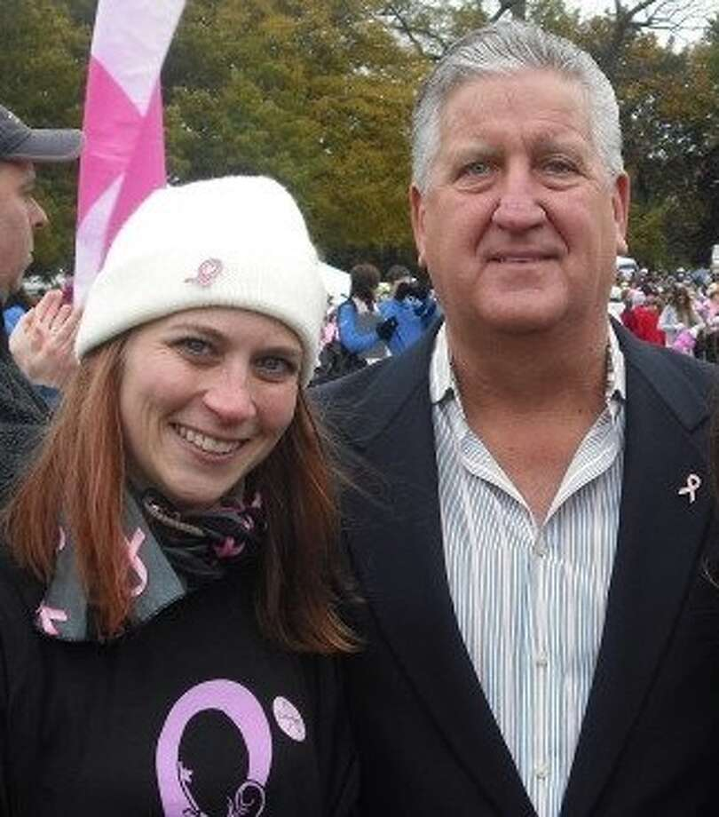 Laura Daniels with Jerry Jennings at the Making Strides.  Submitted by Laura Daniels. Photo: (Reader-submitted)