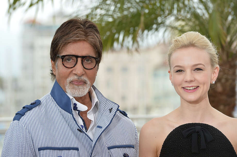 "Indian actor Amitabh Bachchan (L) and British actress Carey Mulligan pose on May 15, 2013 during a photocall for the film ""The Great Gatsby"" ahead of the opening of the 66th edition of the Cannes Film Festival on May 15, 2013 in Cannes. Cannes, one of the world's top film festivals, opens on May 15 and will climax on May 26 with awards selected by a jury headed this year by Hollywood legend Steven Spielberg. Photo: ALBERTO PIZZOLI, AFP/Getty Images / 2013 AFP"