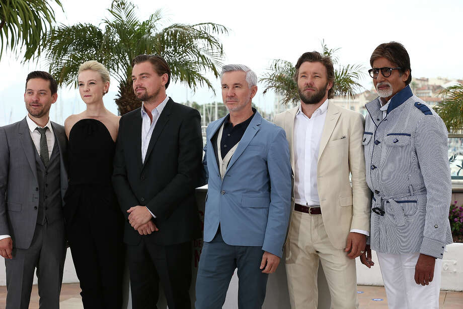 (L-R) Tobey Maguire, Carey Mulligan, Leonard DiCaprio, Baz Luhrmann, Joel Egerton and Amitabh Bachchan attend 'The Great Gatsby' photocall during the 66th Annual Cannes Film Festival at the Palais des Festivals on May 15, 2013 in Cannes, France. Photo: Andreas Rentz, Getty Images / 2013 Getty Images