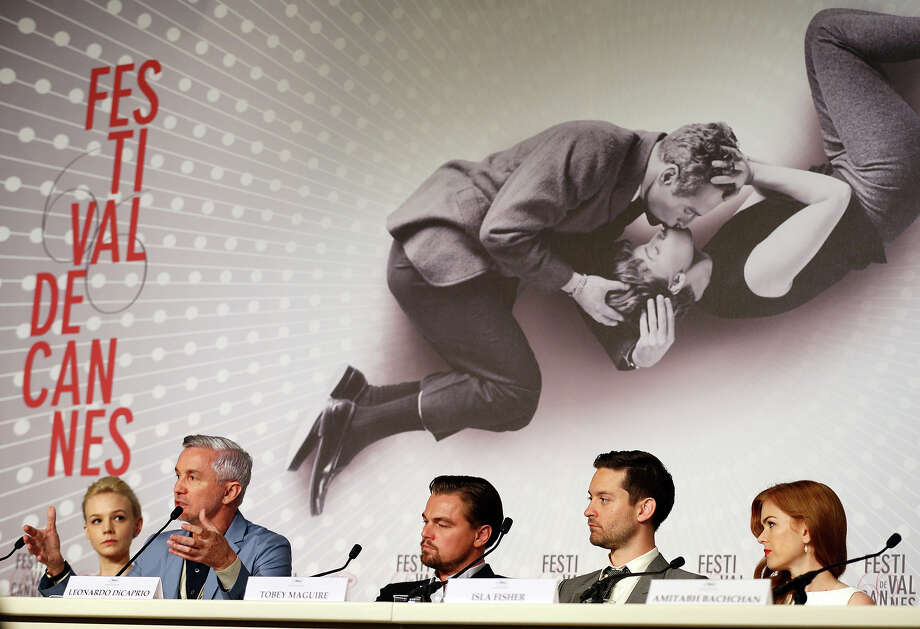 (L-R) Carey Mulligan, Baz Luhrmann, Leonard DiCaprio, Tobey Maguire and Isla Fisher attend the 'The Great Gatsby' Press Conference during the 66th Annual Cannes Film Festival at the Palais des Festivals on May 15, 2013 in Cannes, France. Photo: Vittorio Zunino Celotto, Getty Images / 2013 Getty Images