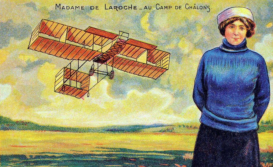 1910: Raymonde de Laroche, of France, was the first female licensed pilot in the world. She later died in the crash of an experimental plane in 1919. Photo: Popperfoto, Popperfoto/Getty Images