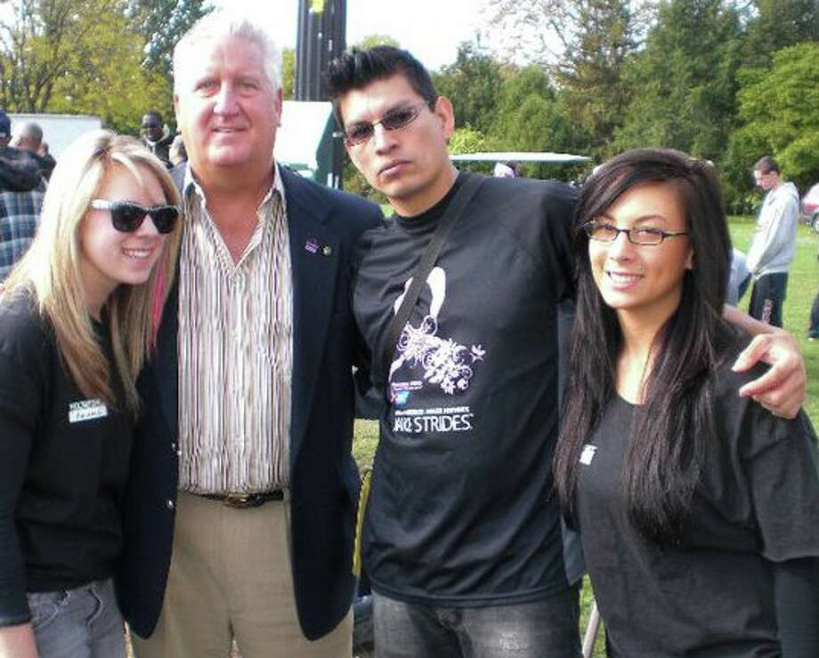Were you Seen posing with Albany Mayor Jerry Jennings?  Paul Mitchell students at the Making Strides Against Breast Cancer Walk in 2011.   Submitted by TracyL. Chesebrough. Photo: (Reader-submitted)