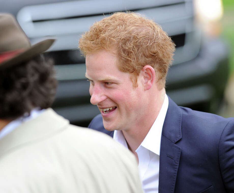 Britain's Prince Harry arrives at the Greenwich Polo Club, Wednesday, May 15, 2013, for a benefit polo match to raise funds for Sentebale, a charity he co-founded in 2006 in memory of his late mother, Princess Diana. Photo: Bob Luckey / Greenwich Time