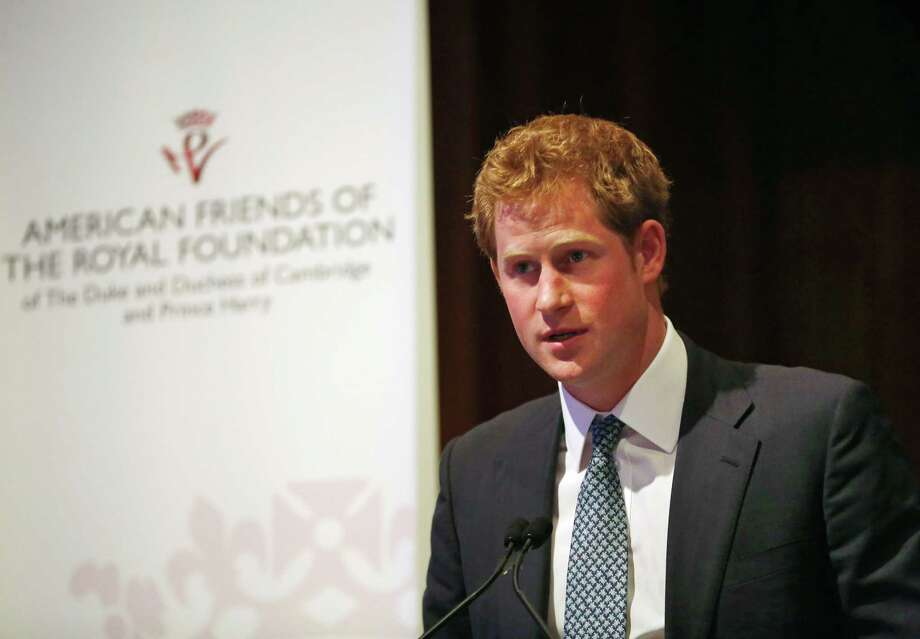 Britain's Prince Harry addresses the American Friends of The Royal Foundation dinner in New York, Tuesday, May 14, 2013. Photo: Brendan McDermid, AP / Reuters Pool