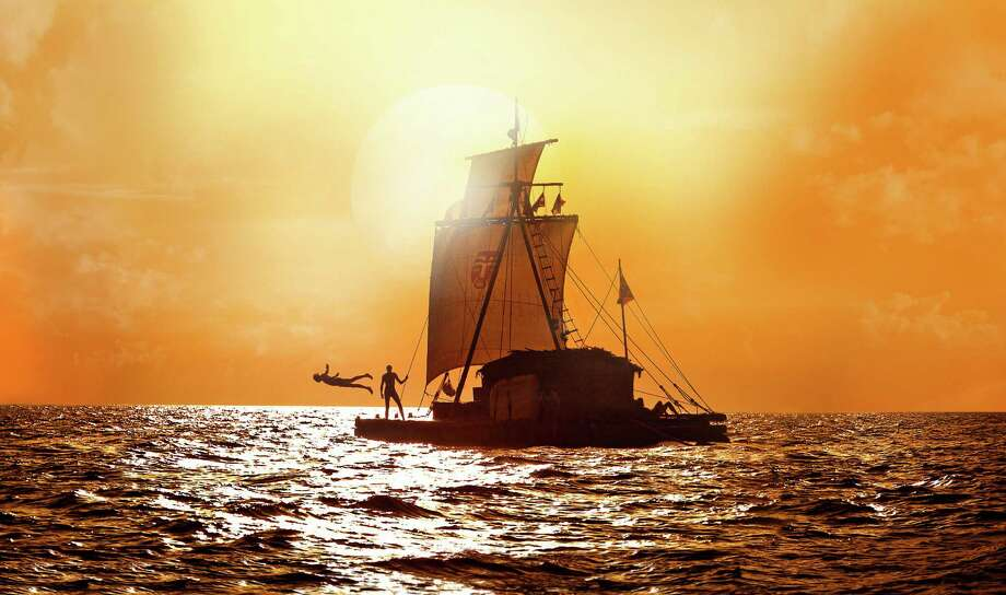 """This film image released by The Weinstein Company shows a scene from """"Kon Tiki.""""  The film, by Norwegian directing team Joachim Roenning and Espen Sandberg, partly re-creates and partly re-imagines Thor Heyerdahl's epic 1947 voyage.  (AP Photo/The Weinstein Company) Photo: HOEP / The Weinstein Company"""