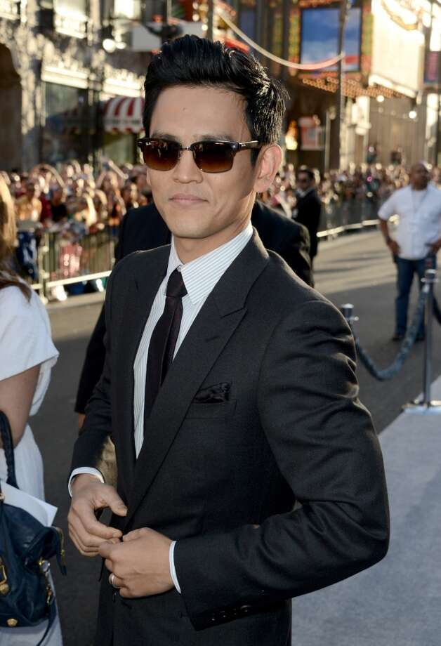 "HOLLYWOOD, CA - MAY 14:  Actor John Cho arrives at the Premiere of Paramount Pictures' ""Star Trek Into Darkness"" at Dolby Theatre on May 14, 2013 in Hollywood, California.  (Photo by Kevin Winter/Getty Images for Paramount Pictures)"