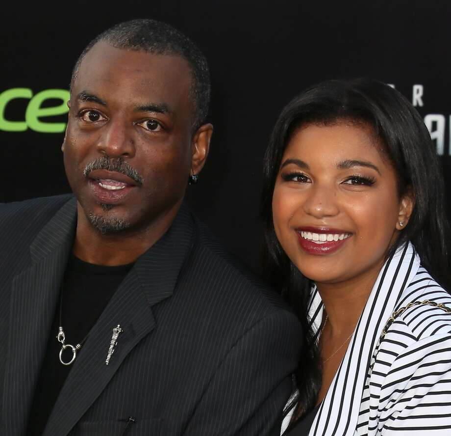 "HOLLYWOOD, CA - MAY 14:  Actor LeVar Burton (L) and daughter Michaela Burton attend the premiere of Paramount Pictures' ""Star Trek Into Darkness"" at the Dolby Theatre on May 14, 2013 in Hollywood, California.  (Photo by David Livingston/Getty Images)"
