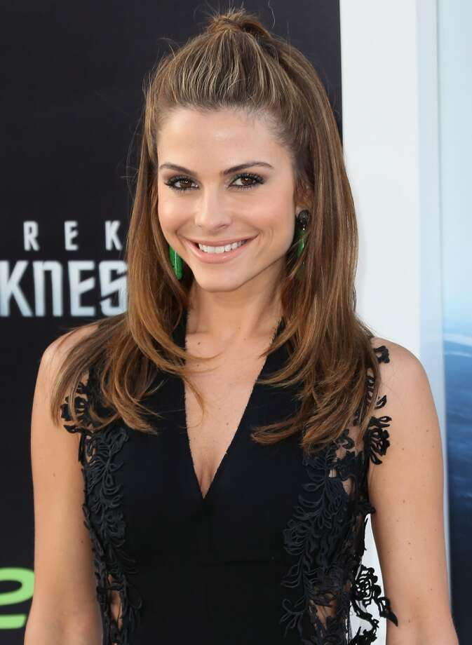 "HOLLYWOOD, CA - MAY 14:  TV personality Maria Menounos attends the premiere of Paramount Pictures' ""Star Trek Into Darkness"" at the Dolby Theatre on May 14, 2013 in Hollywood, California.  (Photo by David Livingston/Getty Images)"