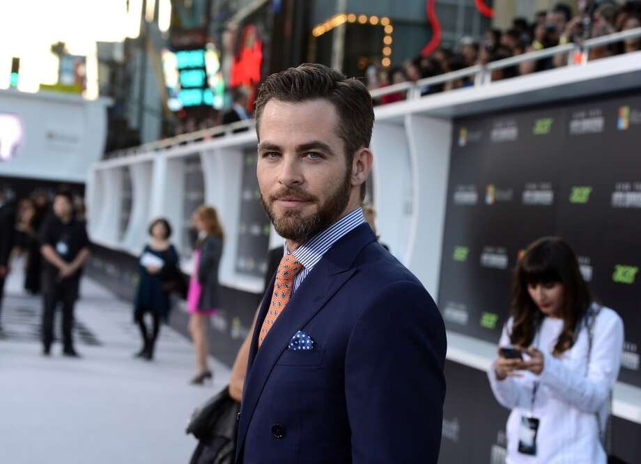 "HOLLYWOOD, CA - MAY 14:  Actor Chris Pine arrives at the Premiere of Paramount Pictures' ""Star Trek Into Darkness"" at Dolby Theatre on May 14, 2013 in Hollywood, California.  (Photo by Kevin Winter/Getty Images for Paramount Pictures)"