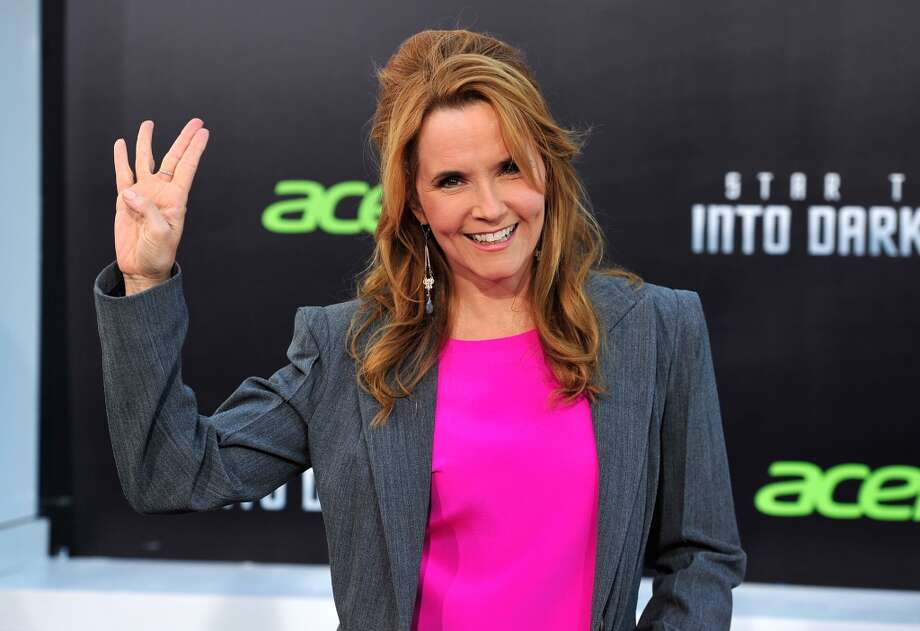 "HOLLYWOOD, CA - MAY 14:  Actress Lea Thompson arrives at the premiere of Paramount Pictures' ""Star Trek Into Darkness"" at Dolby Theatre on May 14, 2013 in Hollywood, California.  (Photo by Frazer Harrison/Getty Images)"