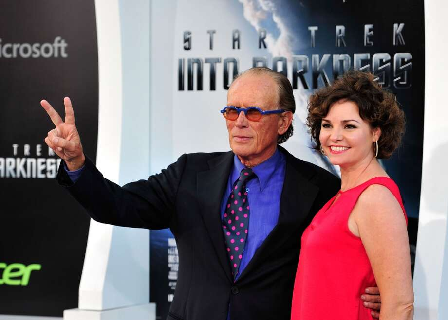 HOLLYWOOD, CA - MAY 14: Actor Peter Weller (R) and Sheri Stowe arrives at the premiere of Paramount Pictures' 'Star Trek Into Darkness' at the Dolby Theatre on May 14, 2013 in Hollywood, California.  (Photo by Frazer Harrison/Getty Images)
