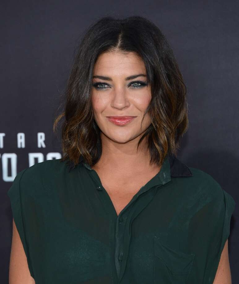 "HOLLYWOOD, CA - MAY 14:  Actress Jessica Szohr attends the premiere of Paramount Pictures' ""Star Trek Into Darkness"" at Dolby Theatre on May 14, 2013 in Hollywood, California.  (Photo by Jason Kempin/Getty Images)"