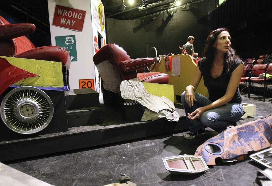 "Andrea Caillouet designed the set for AtticRep's staging of ""Hellcab."" The set was inspired by an installation she created, as well as her time as a cabdriver. Photo: Helen L. Montoya / San Antonio Express-News"