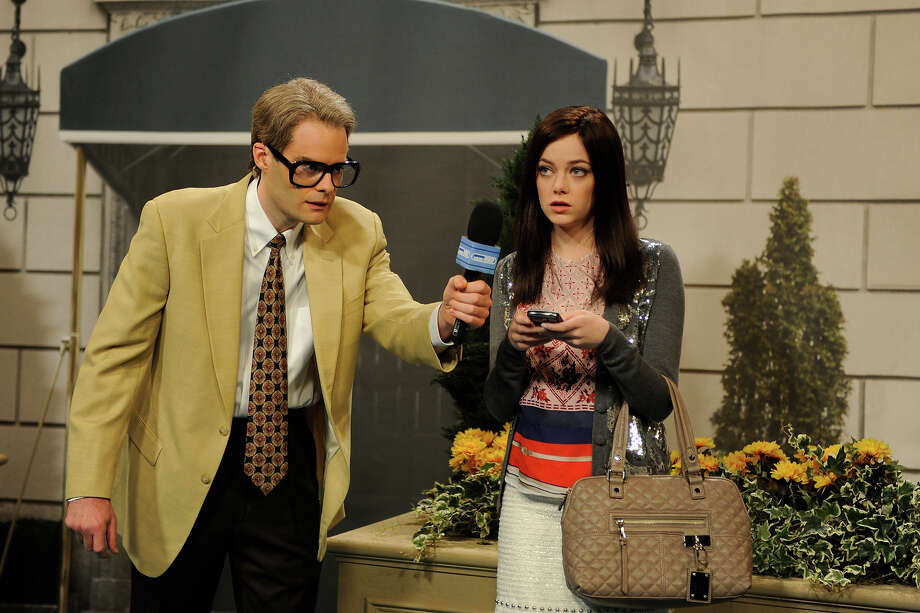 Bill Hader and Emma Stone on SNL in 2011. Photo: NBC / 2012 NBCUniversal, Inc.