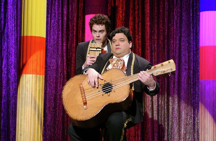 "Bill Hader as Carlos, Horatio Sanz as Manuel Pantalones during ""iShow Biz Grande Explosion!"" skit on October 8, 2005 Photo: NBC / 2012 NBCUniversal, Inc."