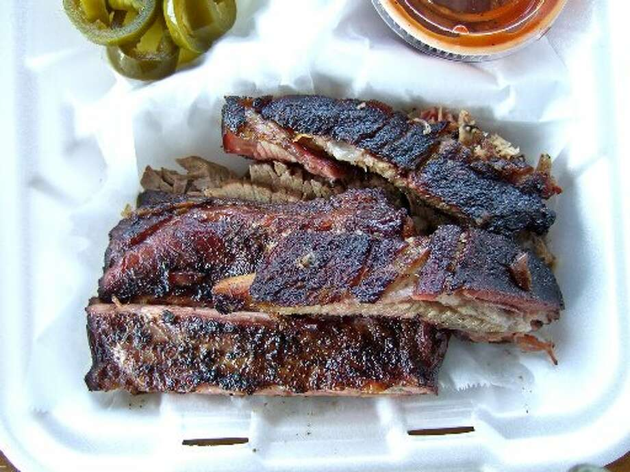 Pork ribs from Gatlin's BBQ.