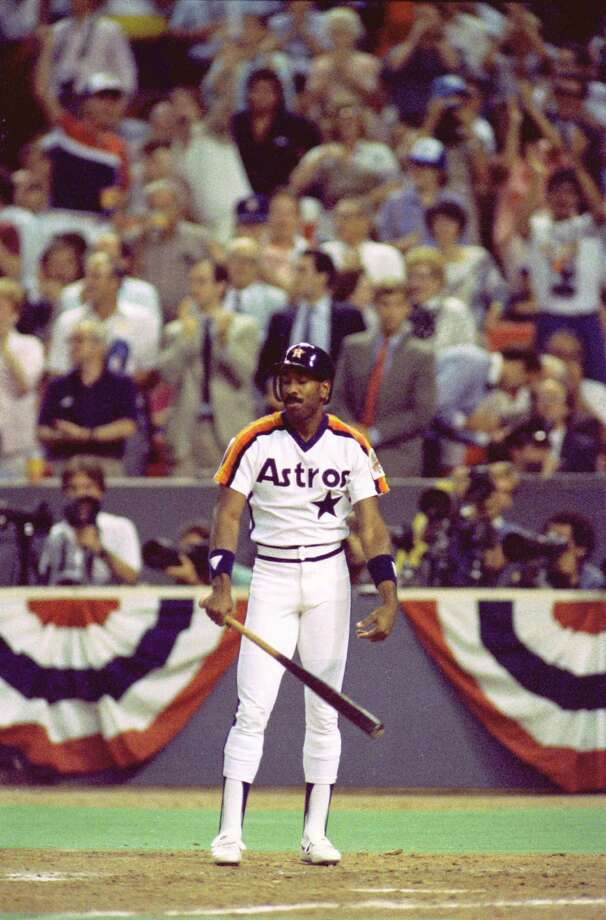 39. Kevin Bass, OF (1982-1989, 1993-1994).278/.330/.423 batting line with 87 HRs, 468 RBIs, 465 Rs, 120 SBs and 15.7 Wins Above Replacement in 1,122 games.  Switch hitter made All-Star team and finished seventh in Most Valuable Player voting in 1986, hitting .311 with 20 HRs and 22 SBs. Photo: Steve Campbell, Houston Chronicle / Houston Chronicle