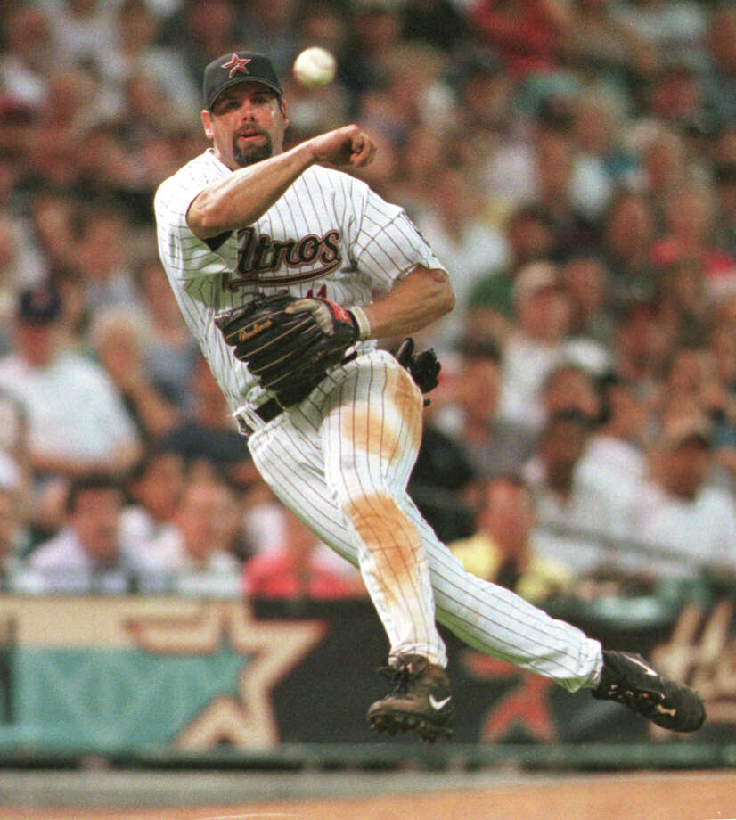 32. Ken Caminiti, 3B (1987-1994, 1999-2000).264/.330/.402 batting line with 103 HRs, 546 RBIs, 496 Rs, 48 SBs and 15.4 Wins Above Replacement in 1,085 games.  Made first All-Star team in 1994 with Astros and was MVP two seasons later with San Diego Padres. Photo: Kevin Fujii, Houston Chronicle / Houston Chronicle
