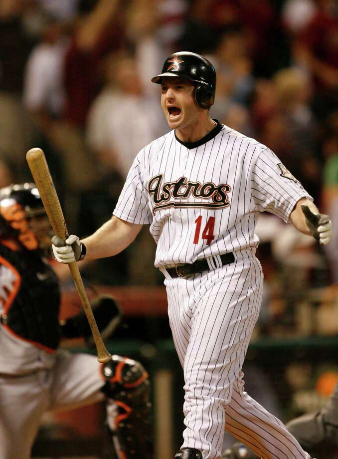 29. Morgan Ensberg, 3B (2007-2007).266/.367/.475 batting line with 105 HRs, 335 RBIs, 323 Rs, 22 SB and 12.2 Wins Above Replacement in 673 games.  Was most productive everyday player on 2005 team that reached World Series, bashing 36 HRs, driving in 101 and finishing fourth in Most Valuable Player voting. Photo: Kevin Fujii, Houston Chronicle / Houston Chronicle