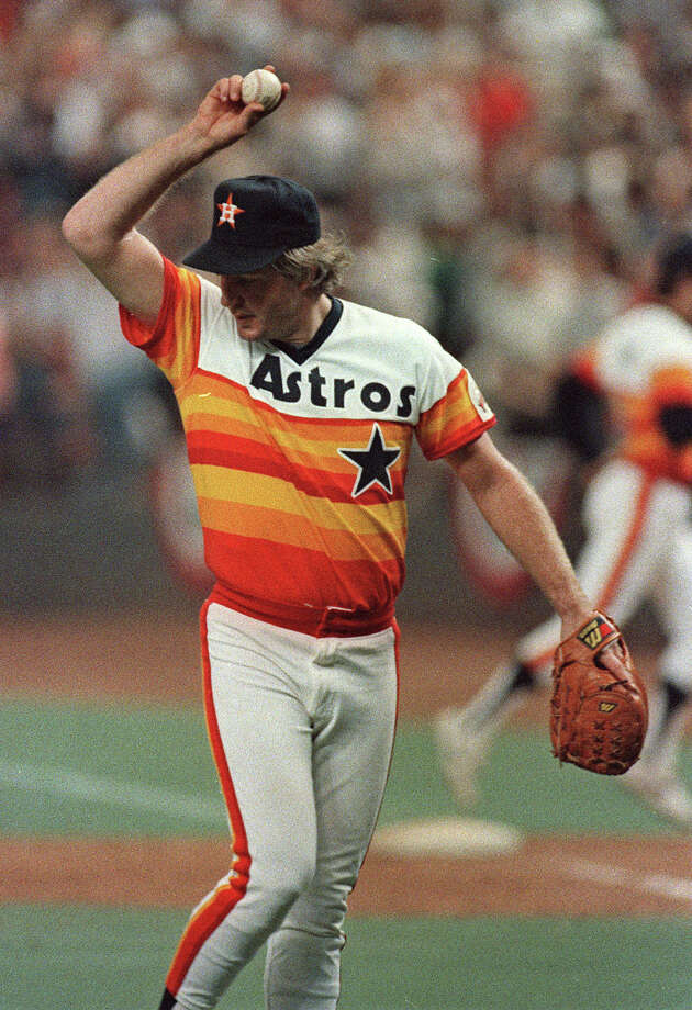 26. Dave Smith, RHP (1980-1990)53-47 with 199 saves and a 2.53 ERA in 762 IP, with 529 Ks, an ERA+ of 137 and 13.5 Wins Above Replacement.  Helped Astros win two division titles, twice posted ERA below 2 (1980, 1987). Photo: AP