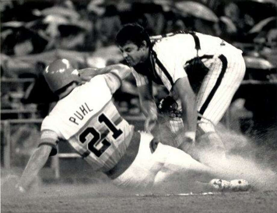21. Terry Puhl, OF (1977-1990) .281/.349/.389 batting line with 62 HRs, 432 RBIs, 676 Rs, 217 SBs and 26.1 Wins Above Replacement in 1,516 games.  An All-Star in 1978, one of the best players to come out of Canada. Photo: Courtesy Of The Astros