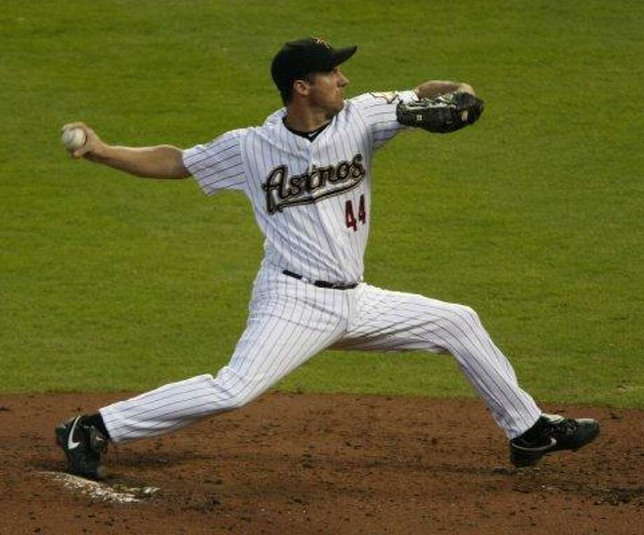 6. Roy Oswalt, RHP (2001-2010) 143-82 with 3.24 ERA in 1,932.1 IP, with 1,593 Ks, an ERA+ of 133 and 41.8 Wins Above Replacement.  Second on the Astros all-time victory list, won 20 games twice (2004, 2005), led league in ERA once (2006) and finished in top five of Cy Young voting five times. Photo: Julio Cortez, Houston Chronicle